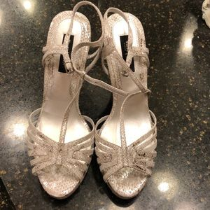 White House Black Market Silver Elizabeth shoes